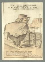 Victorian Trade Card For N. K. Fairbank Lard Refiners Pig with Campbell Quote