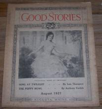 Good Stories Magazine August 1927  Vintage Fiction, Recipes, Household, Poetry