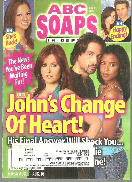 ABC Soaps in Depth August 16, 2005 One Life to Live, John's Change of Heart