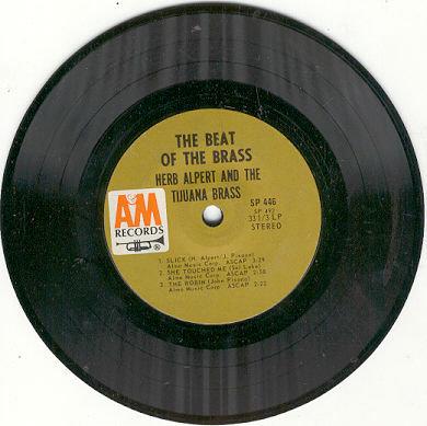 Herb Alpert and the Tijuana Brass Beat of the Brass 33 1/3  RPM record