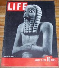 Life Magazine August 15, 1938 High Priest 3000 BC on the Cover/Irving Berlin