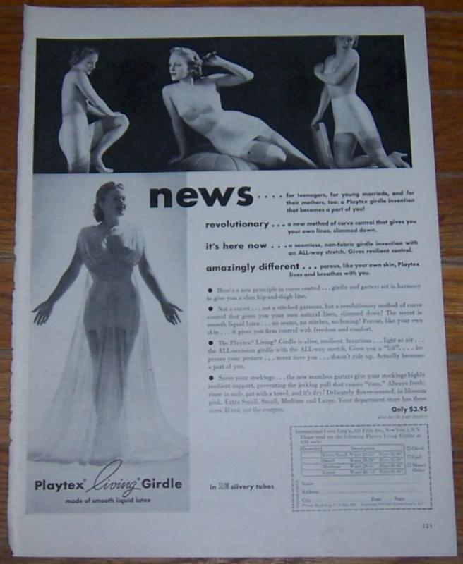 1947 Playtex Living Girdle Life Magazine Advertisement