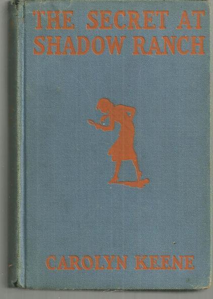 Secret at Shadow Ranch by Carolyn Keene Nancy Drew #5 Blue and Orange Cover