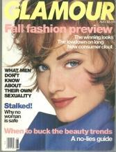 Glamour Magazine August 1992 Fall Fashion Preview/Tori Amos/Safe Summer Eating