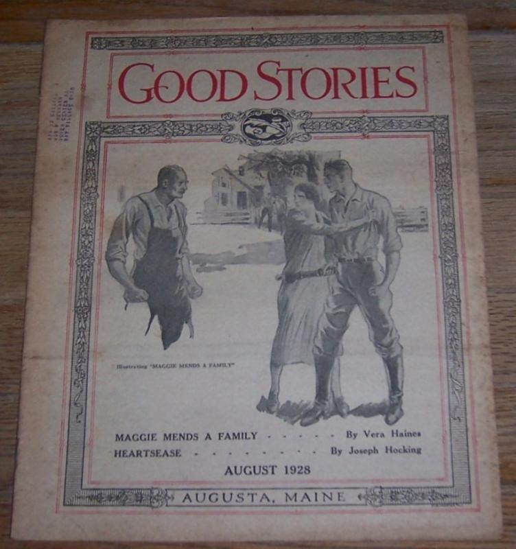 Good Stories Magazine August 1928  Vintage Fiction, Recipes, Household, Poetry