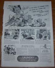 1940 Summer Laundry Life Magazine Advertisement Garden Instead of Washing