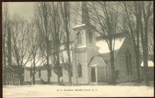 Postcard of M. E. Church, Beaver Falls, New York