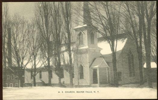 Postcard of M. E. Church, Beaver Falls, New York