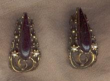 Pair of Vintage Black Clip On Earrings