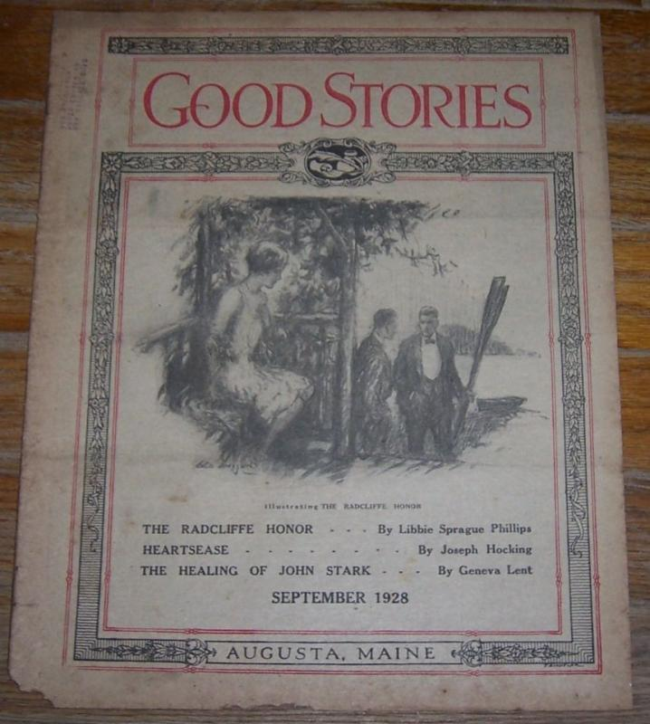 Good Stories Magazine September 1928 Vintage Fiction, Poetry, Recipes, Household