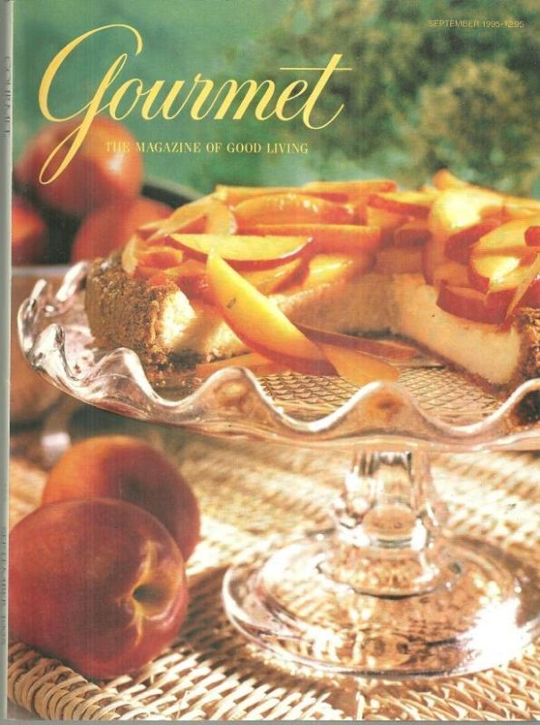 Gourmet Magazine September 1995 French Vegetable Gratins/Weekend in the Country