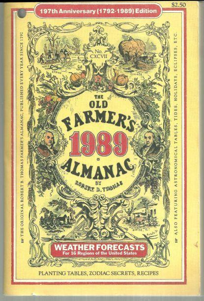 Old Farmer's Almanac for the Year 1989 Weather Forecasts, Planting Tables