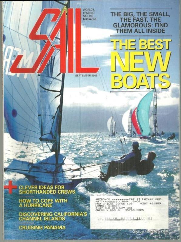 Sail Magazine September 2005 The New Boats/ Cruising Panama/Santa Cruz Island