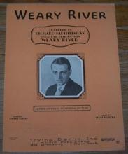 Weary River Featured in Richard Barthelmes's Production 1929 Sheet Music