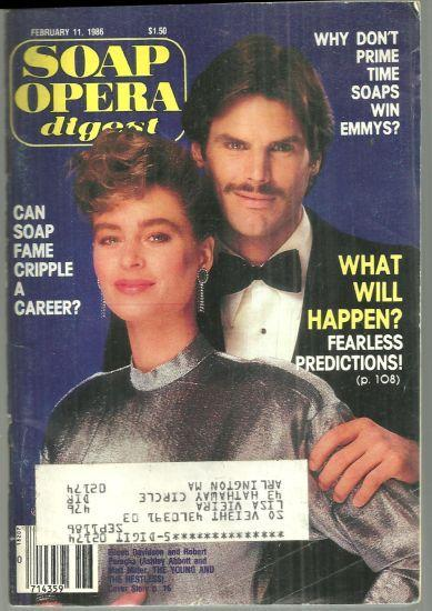 Soap Opera Digest Magazine February 11, 1986 Eileen Davidson and Robert Parucha