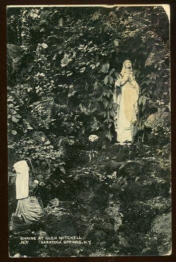 Shrine Glen Mitchell Saratoga Springs, New York 1908 Postcard