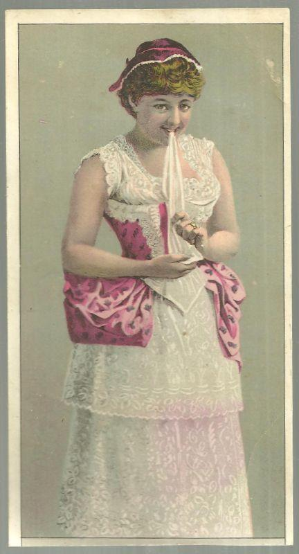 Victorian Trade Card for White Sewing Machine with Lovely Lady