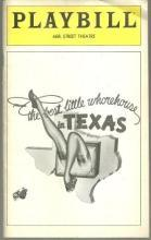 Playbill for Best Little Whorehouse in Texas August 1980 Fannie Flagg Gil Rogers