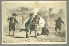 Victorian Trade Card The Great Centennial American Tea with Roller Skaters