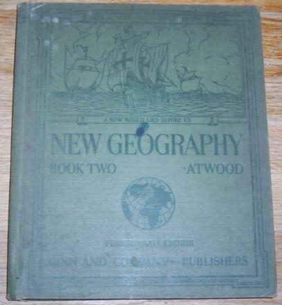 New Geography Book Two Pennsylvania Edition by Wallace Atwood 1929 Atlas
