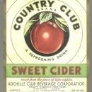 Vintage Country Club Sweet Cider Label