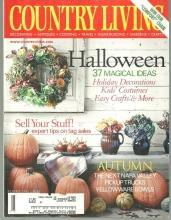 Country Living Magazine October 2001 Medieval Halloween/Tag Sale/ Hudson Valley