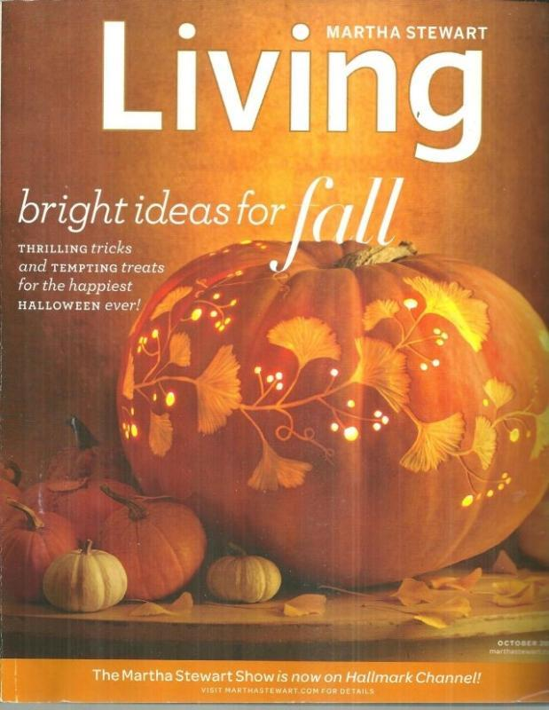 Martha Stewart Living October 2010 Bright Ideas for Fall on the Cover/Pumpkins