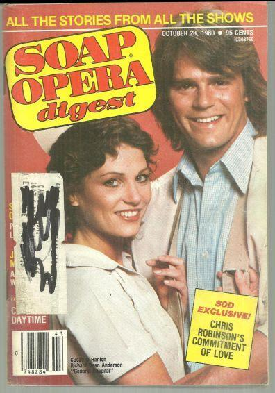 Soap Opera Digest October 28, 1980 Anne and Jeff From General Hospital on Cover