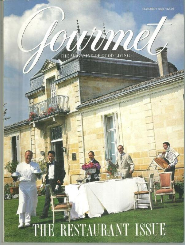 Gourmet Magazine October 1998 Restaurant Issue Chef Thierry Marx On Cover