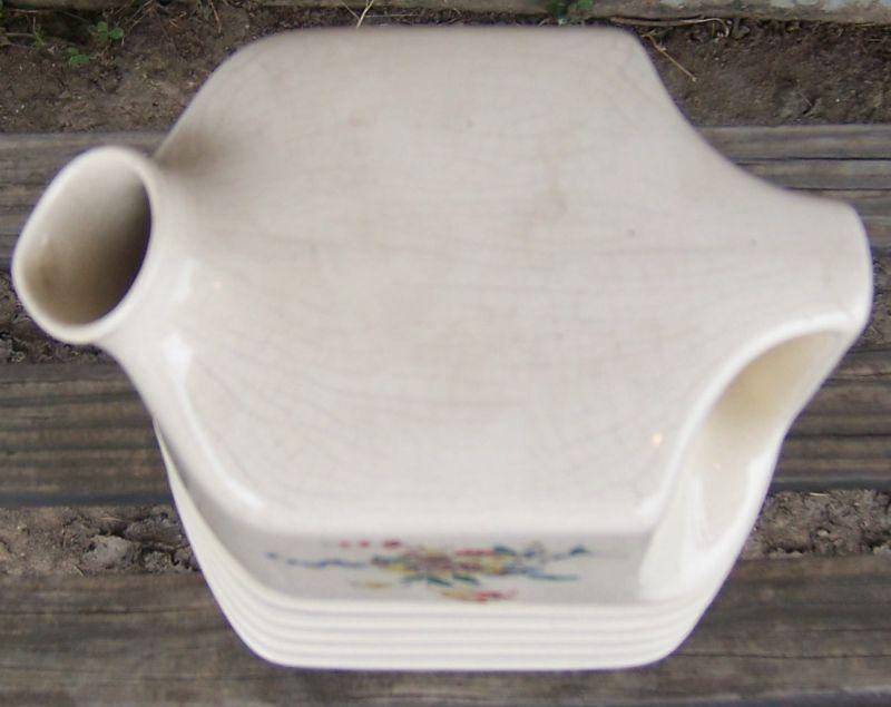 Vintage Universal Cambridge China Water Pitcher with Flower Decal