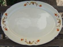 Vintage Hall China Jewel Tea Autumn Leaf Large Serving Platter