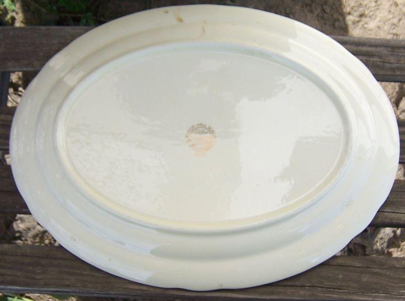 Vintage Hall China Jewel Tea Autumn Leaf Large Serving Platter