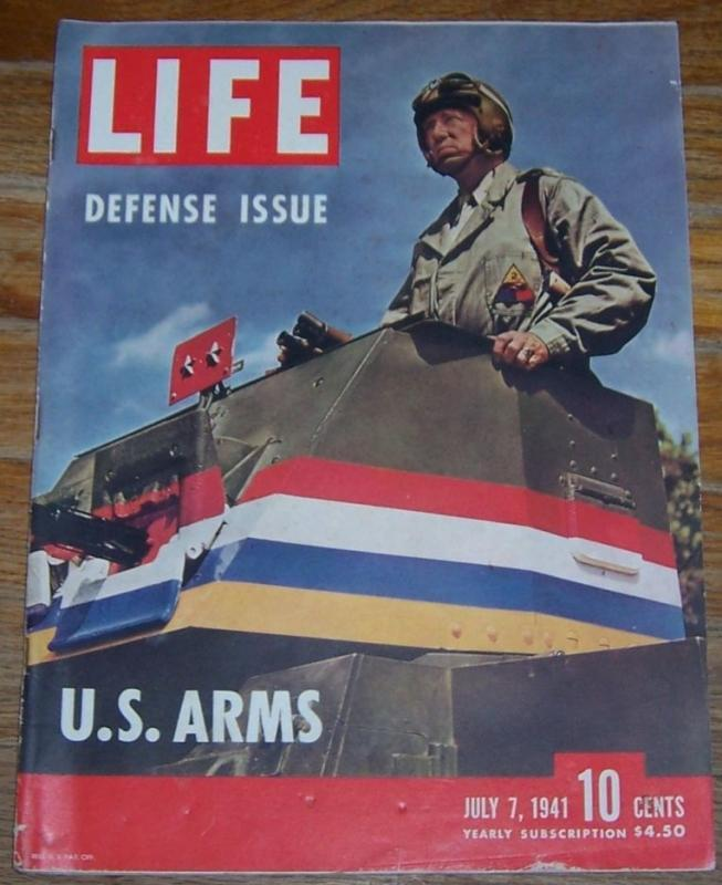 Life Magazine July 7, 1941 Major General George Patton On cover Defense Issue