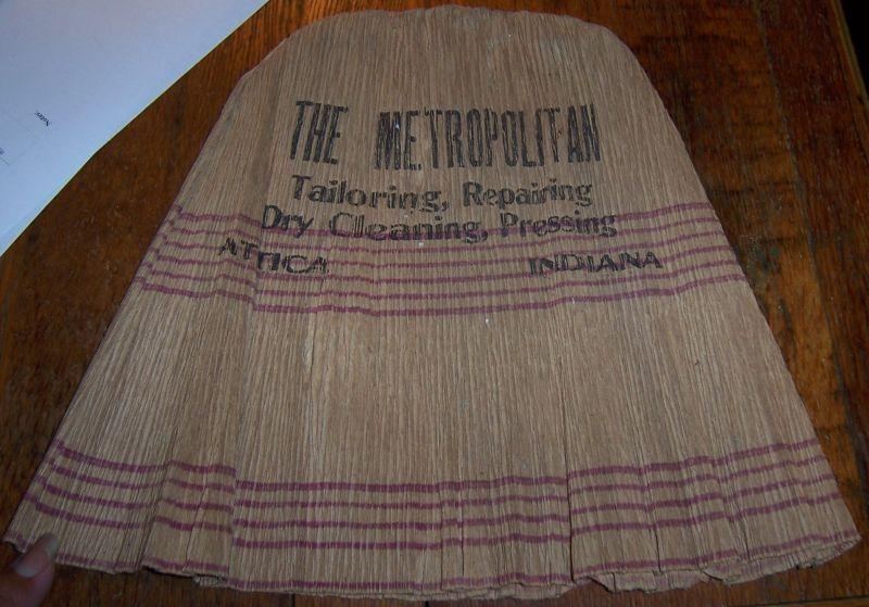 Vintage Paper Hat with Advertising for Metropolitan Tailoring, Attica, Indiana