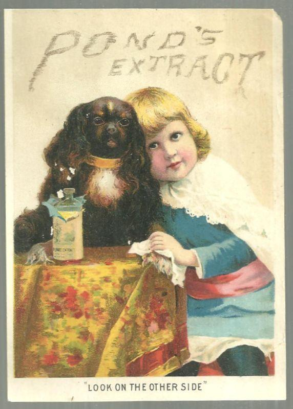 Victorian Trade for Pond's Extract With Girl and Dog