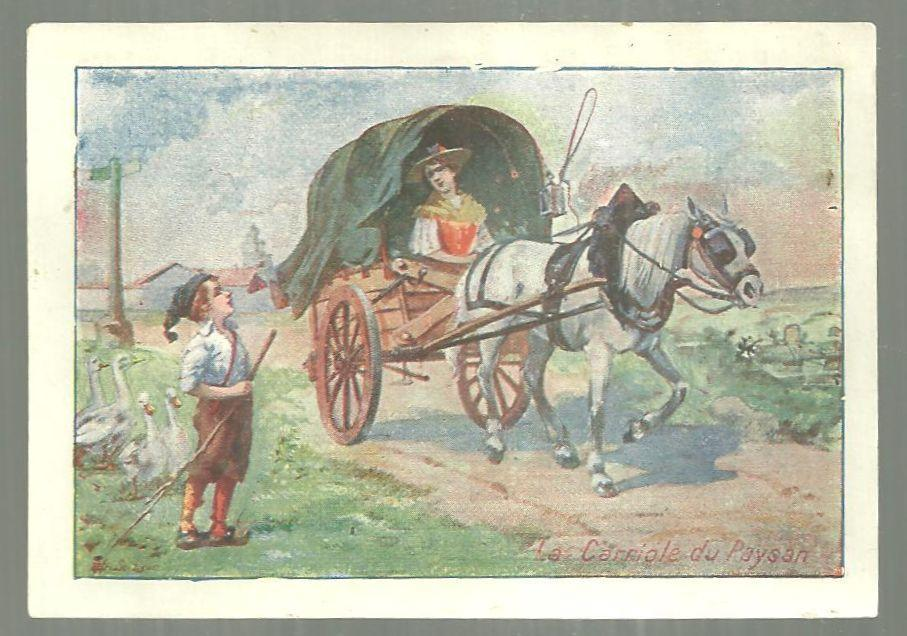 Victorian Trade Card for Alcool de Menthe Anglaise Eau De Cologne, Lyon w/Cart