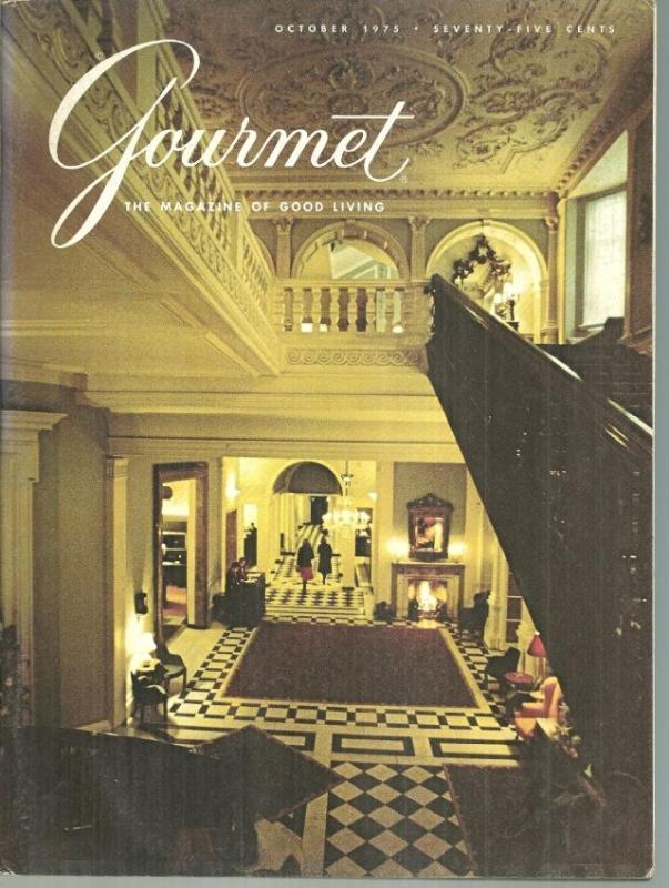 Gourmet Magazine October 1975 Claridge's/Geneva/France/Brazil/Souffles/Cocktails