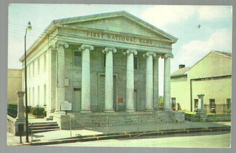 Vintage  Postcard of First National Bank Building, Huntsville. Alabama 1959