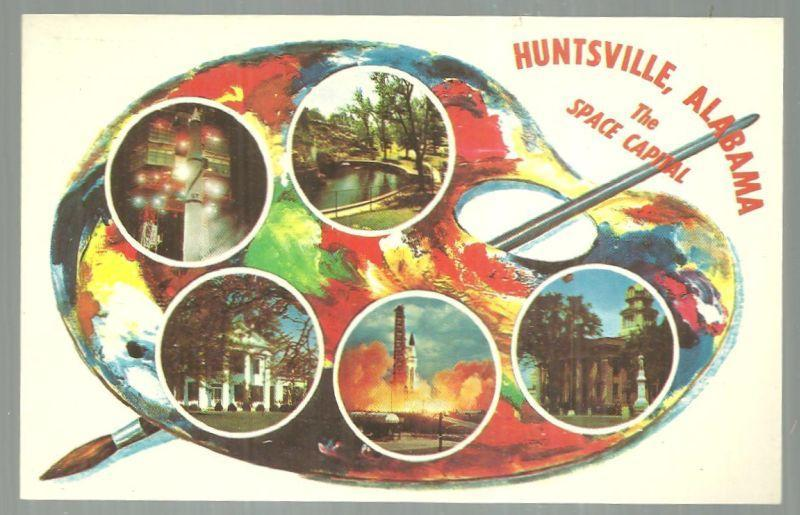 Vintage Unused Postcard of Huntsville Alabama The Space Capital of the Universe
