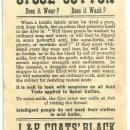 Victorian Trade Card J. & P. Coats' Fast Black Thread with African American Boy