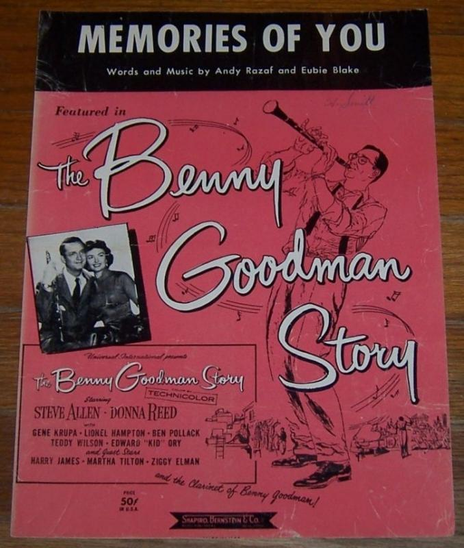Memories of You Featured The Benny Goodman Story Steven Allen and Donna Reed