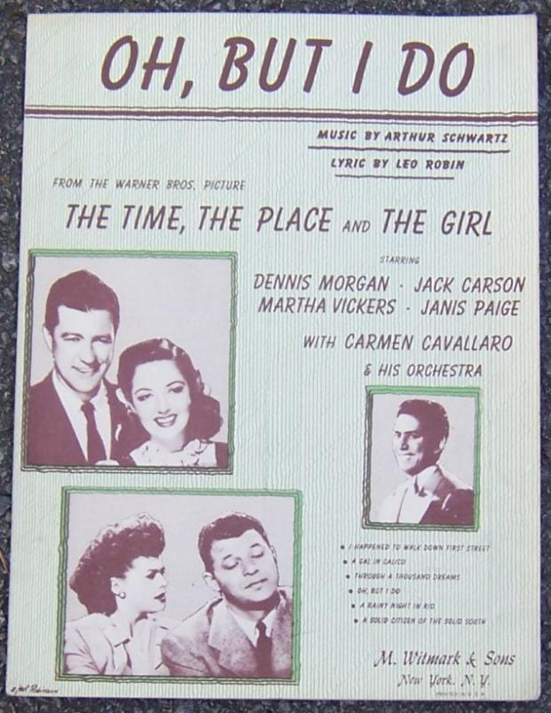 Oh, But I Do Starring Dennis Morgan and Jack Carson 1936 Movie Sheet Music
