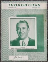 Thoughtless Recorded by George Olsen and His Orchestra 1948 Sheet Music