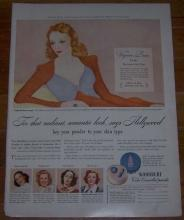 1941 Virginia Bruce Hollywood Woodbury Face Powder Magazine Advertisement