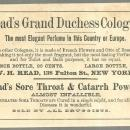 Victorian Trade Card for Read's Grand Duchess Cologne
