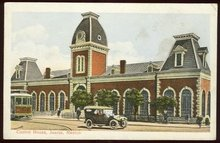 Postcard of Custom House, Juarez, Mexico