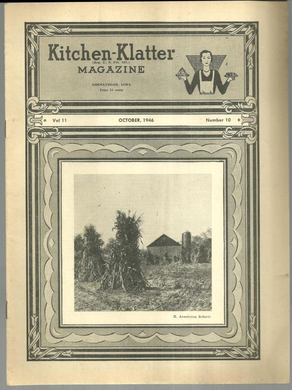 Kitchen Klatter Magazine October 1946 Halloween Hilarity Party/October Garden