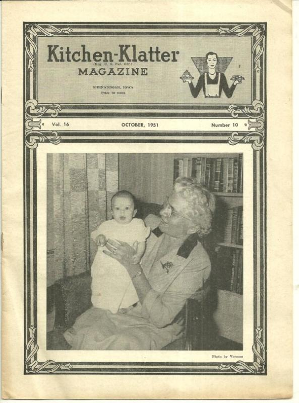 Kitchen Klatter Magazine October 1951 Halloween Party/Tulips/Chrysanthemums