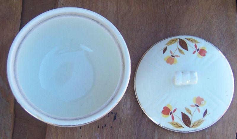 Vintage Hall's China Jewel Tea Grease Jar with Lid