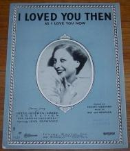 I Loved You Then As I Love You Now From Our Dancing Daughters w/Joan Crawford